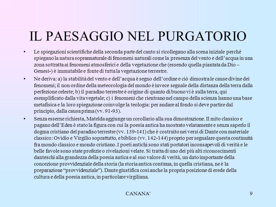 IL PAESAGGIO NEL PURGATORIO