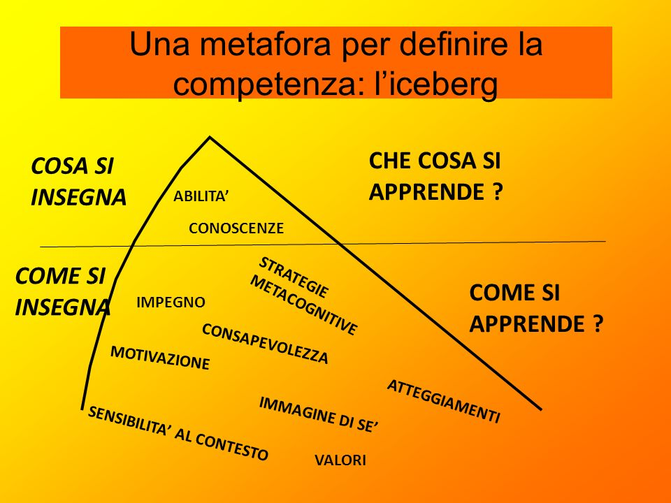 Una metafora per definire la competenza: l'iceberg