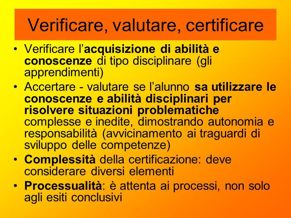Verificare, valutare, certificare