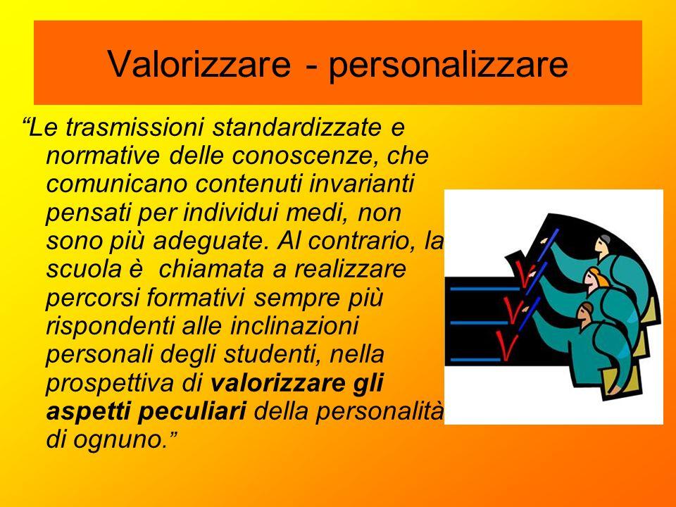 Valorizzare - personalizzare