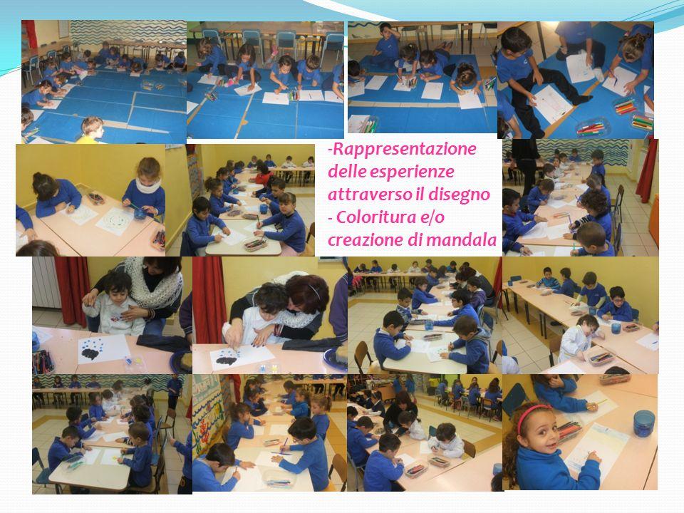 Rappresentazione delle esperienze attraverso il disegno - Coloritura e/o creazione di mandala