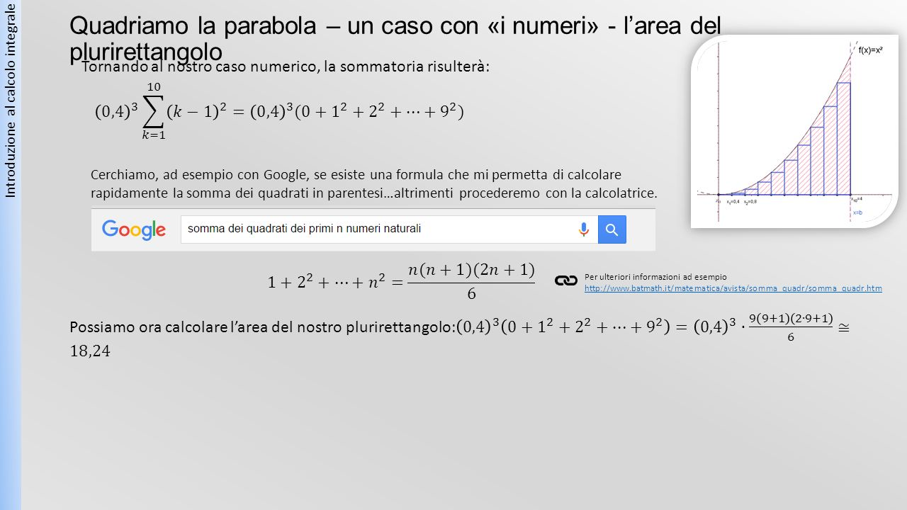 Introduzione al calcolo integrale