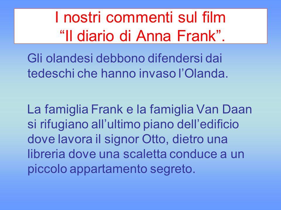 I nostri commenti sul film Il diario di Anna Frank .