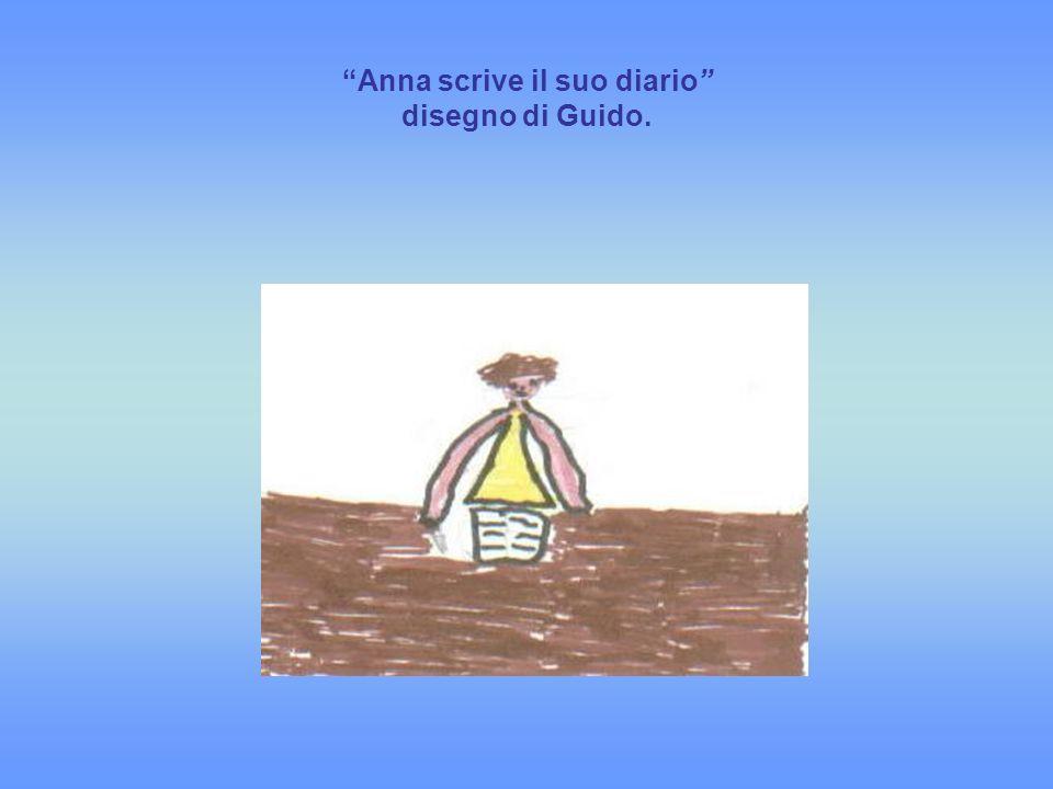 Anna scrive il suo diario disegno di Guido.