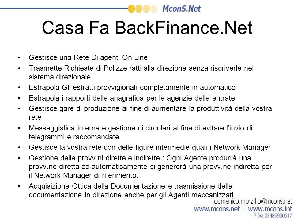 Casa Fa BackFinance.Net