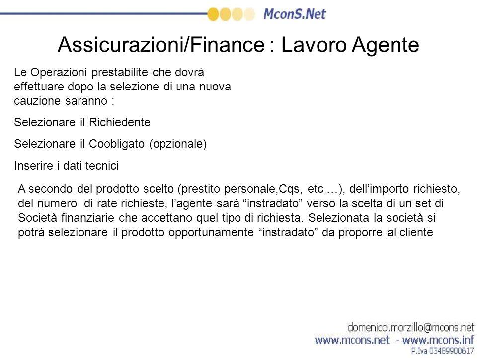 Assicurazioni/Finance : Lavoro Agente