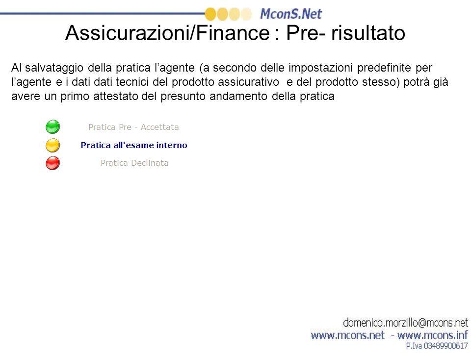 Assicurazioni/Finance : Pre- risultato