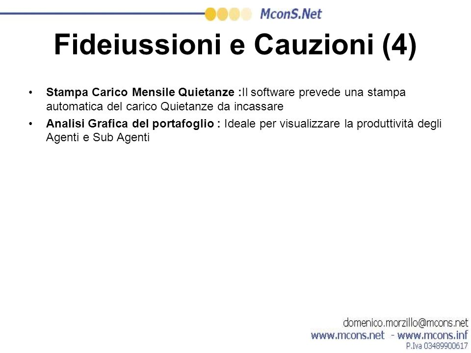 Fideiussioni e Cauzioni (4)