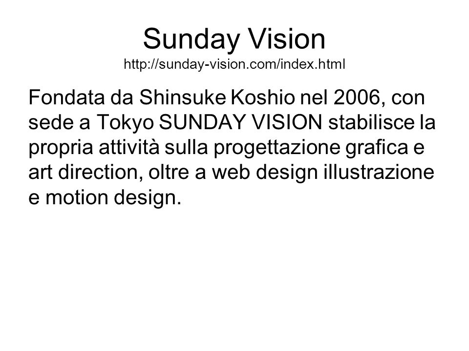 Sunday Vision http://sunday-vision.com/index.html