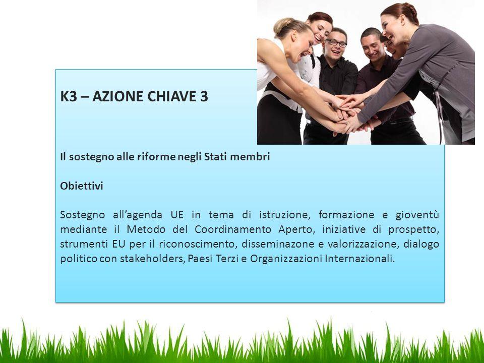 K3 – AZIONE CHIAVE 3 Il sostegno alle riforme negli Stati membri