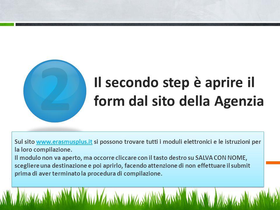Il secondo step è aprire il form dal sito della Agenzia