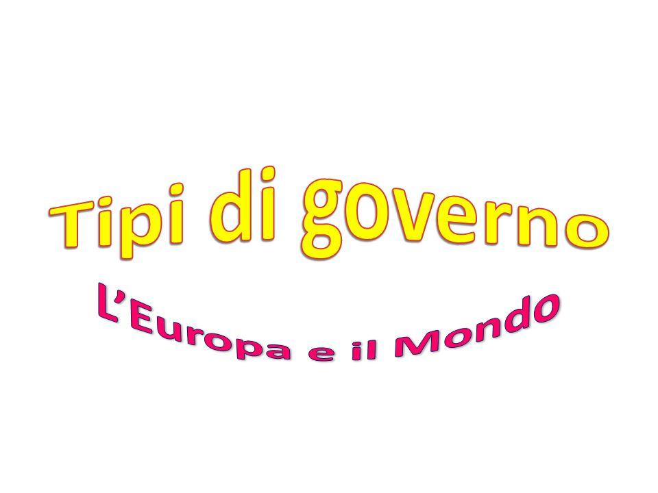 Tipi di governo L'Europa e il Mondo