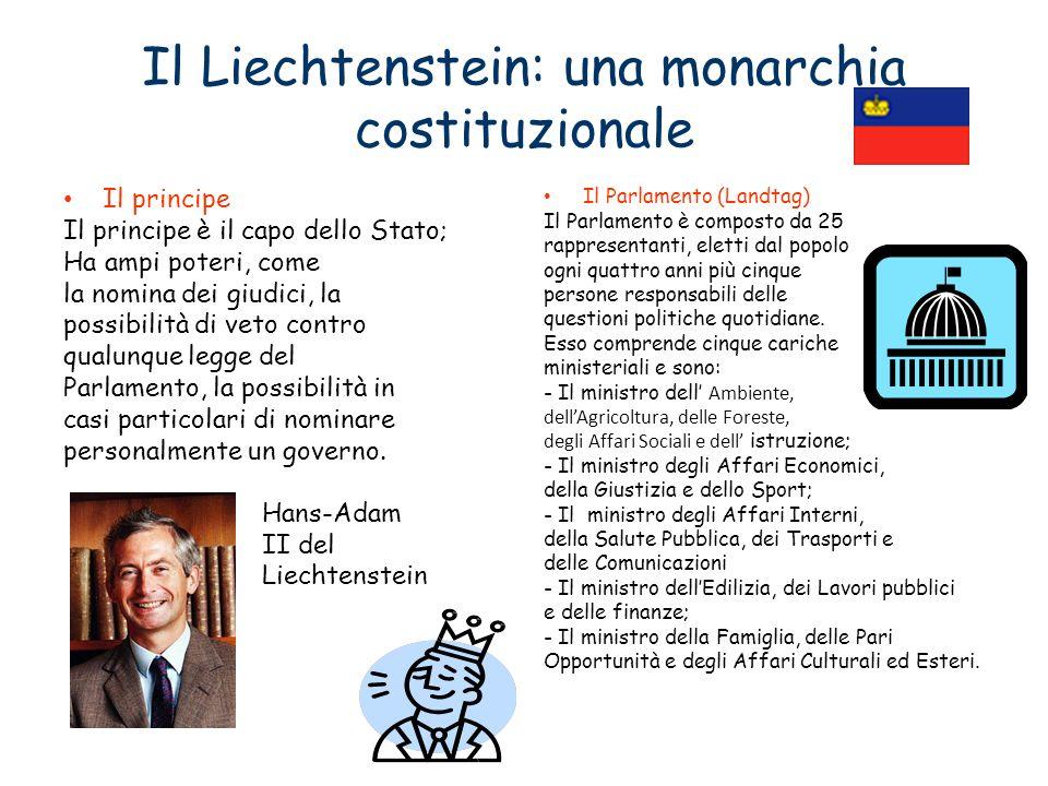Il Liechtenstein: una monarchia costituzionale