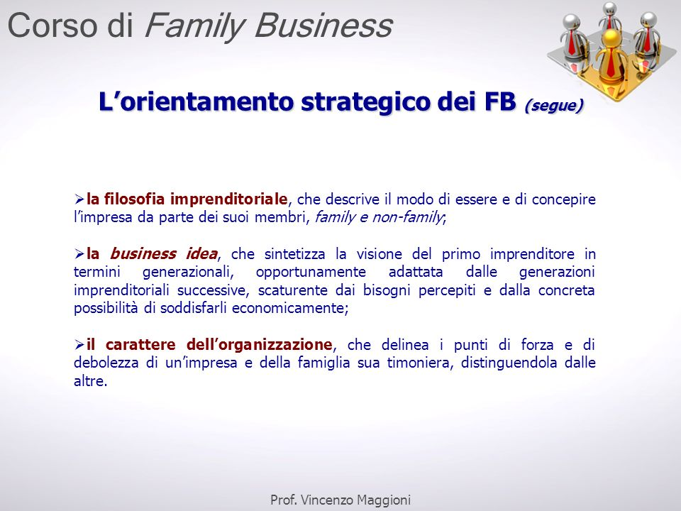 L'orientamento strategico dei FB (segue)