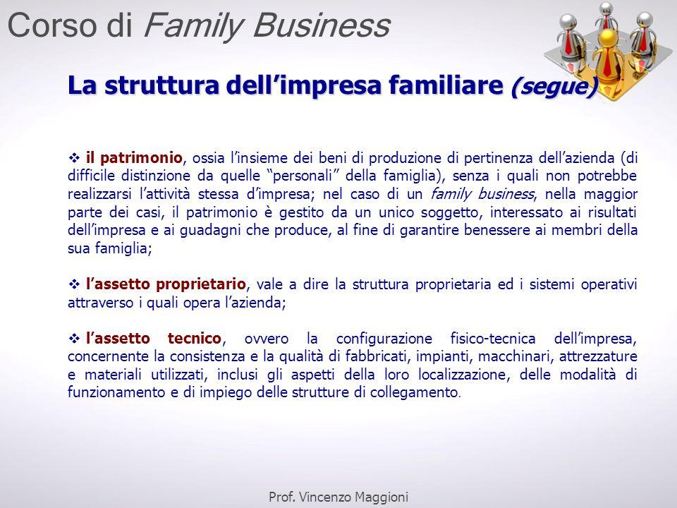 La struttura dell'impresa familiare (segue)