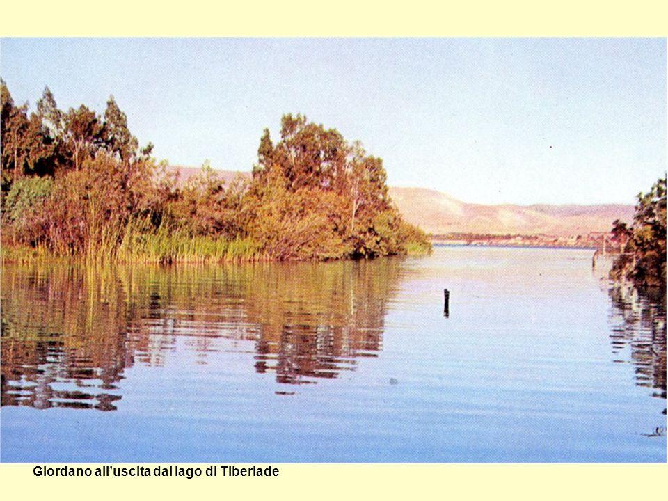 Giordano all'uscita dal lago di Tiberiade