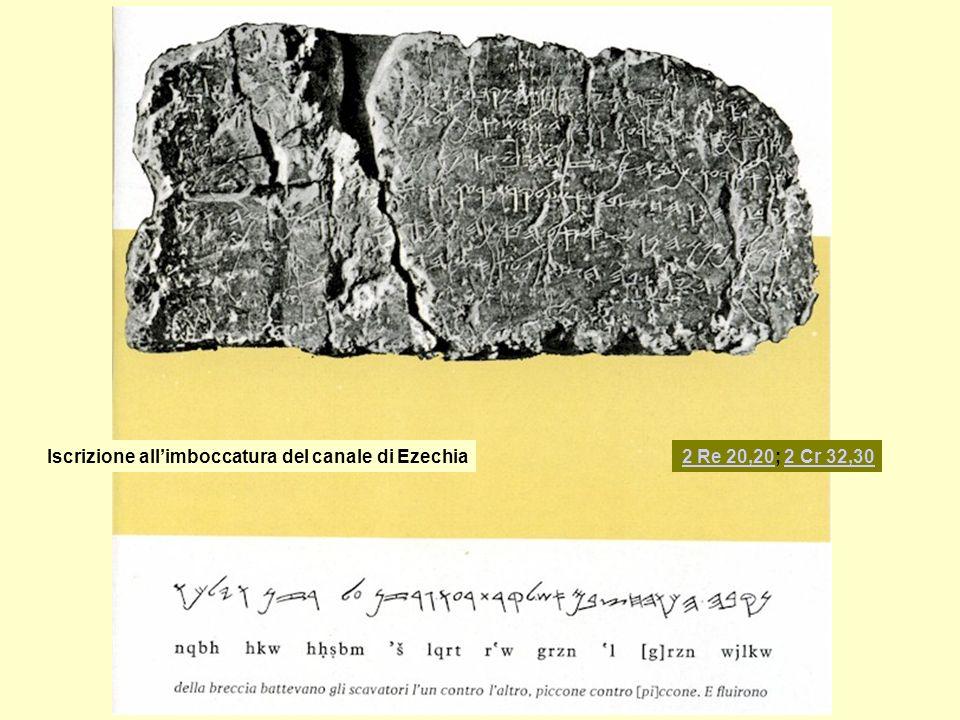 Iscrizione all'imboccatura del canale di Ezechia