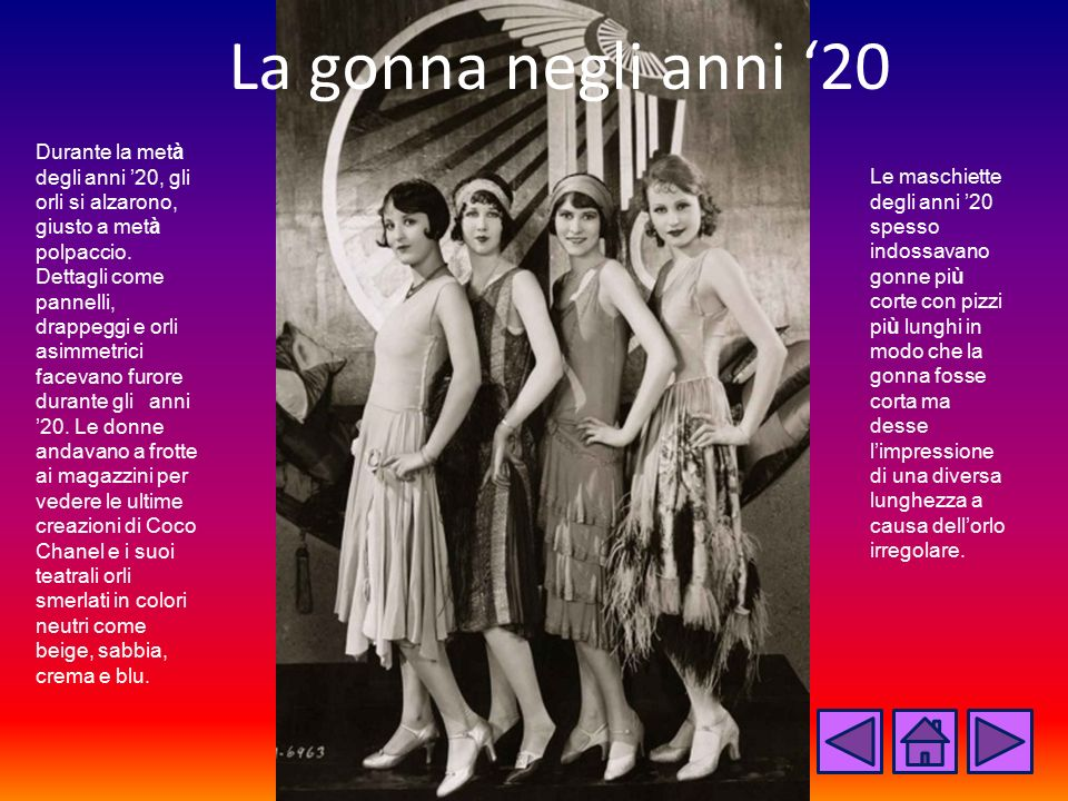 La gonna negli anni '20
