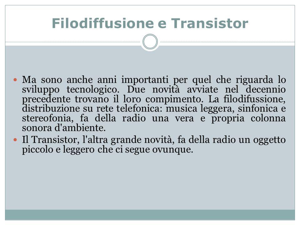 Filodiffusione e Transistor