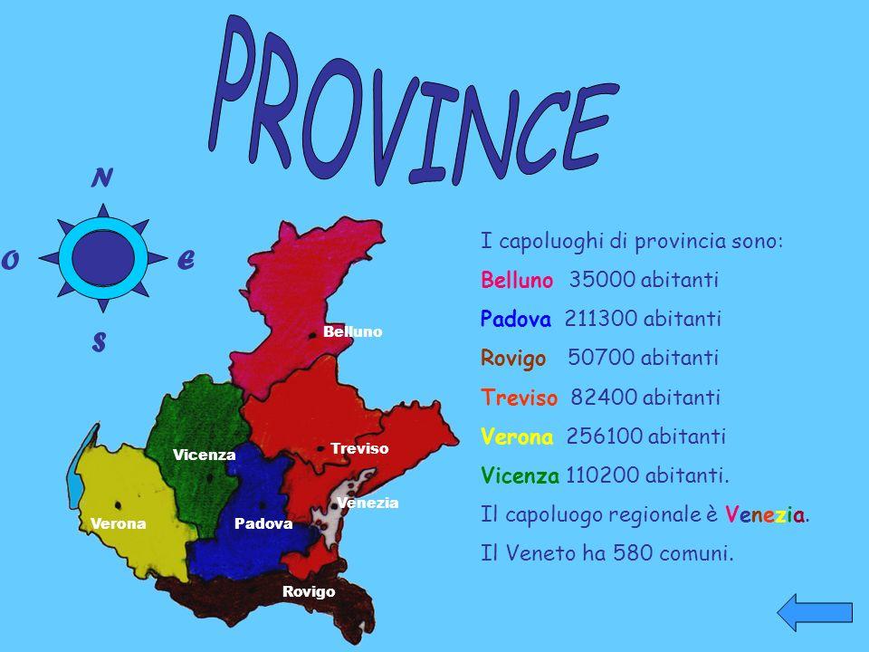PROVINCE N O E S I capoluoghi di provincia sono: