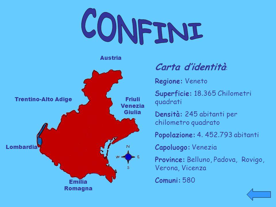 CONFINI Carta d'identità: Regione: Veneto