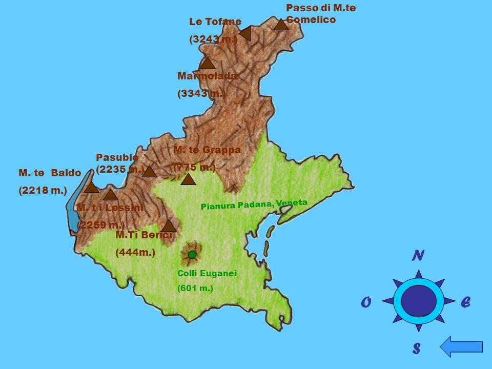 N O E S Passo di M.te Comelico Le Tofane (3243 m.) Marmolada (3343 m.)