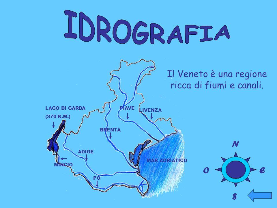 Il Veneto è una regione ricca di fiumi e canali.