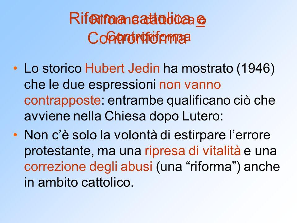 Riforma cattolica o Controriforma