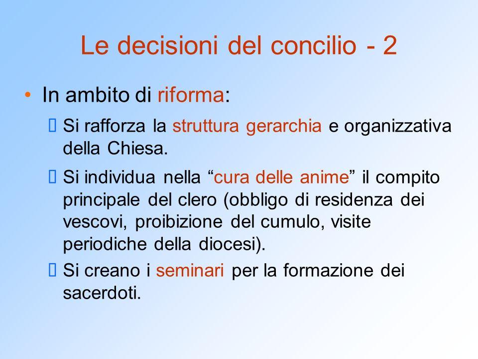 Le decisioni del concilio - 2