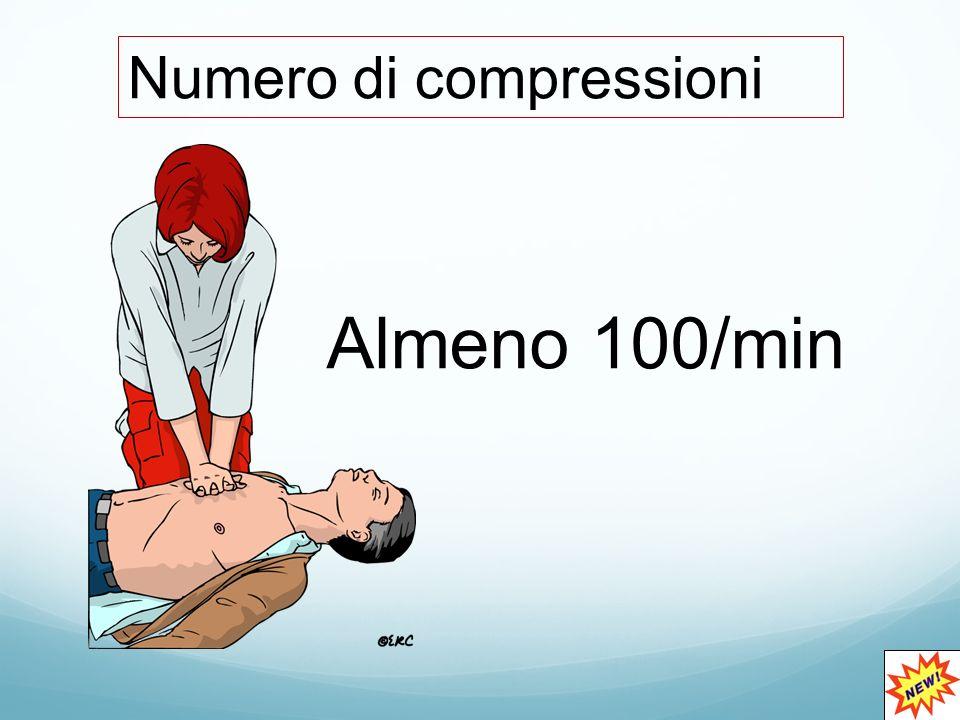 Almeno 100/min Numero di compressioni