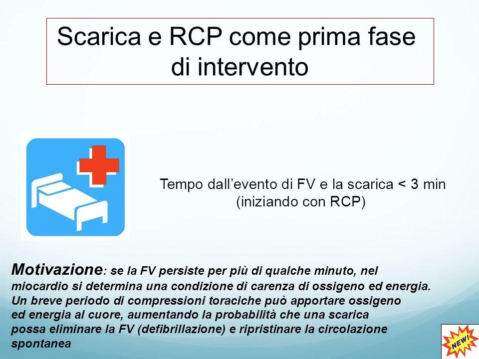 Scarica e RCP come prima fase di intervento