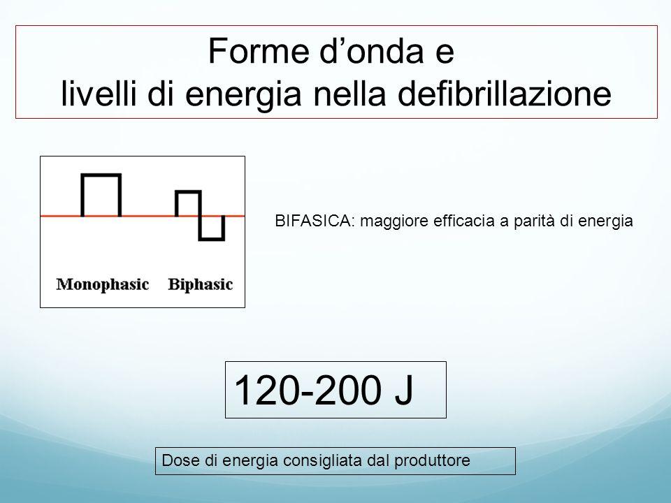 livelli di energia nella defibrillazione