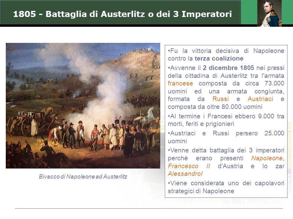 1805 - Battaglia di Austerlitz o dei 3 Imperatori