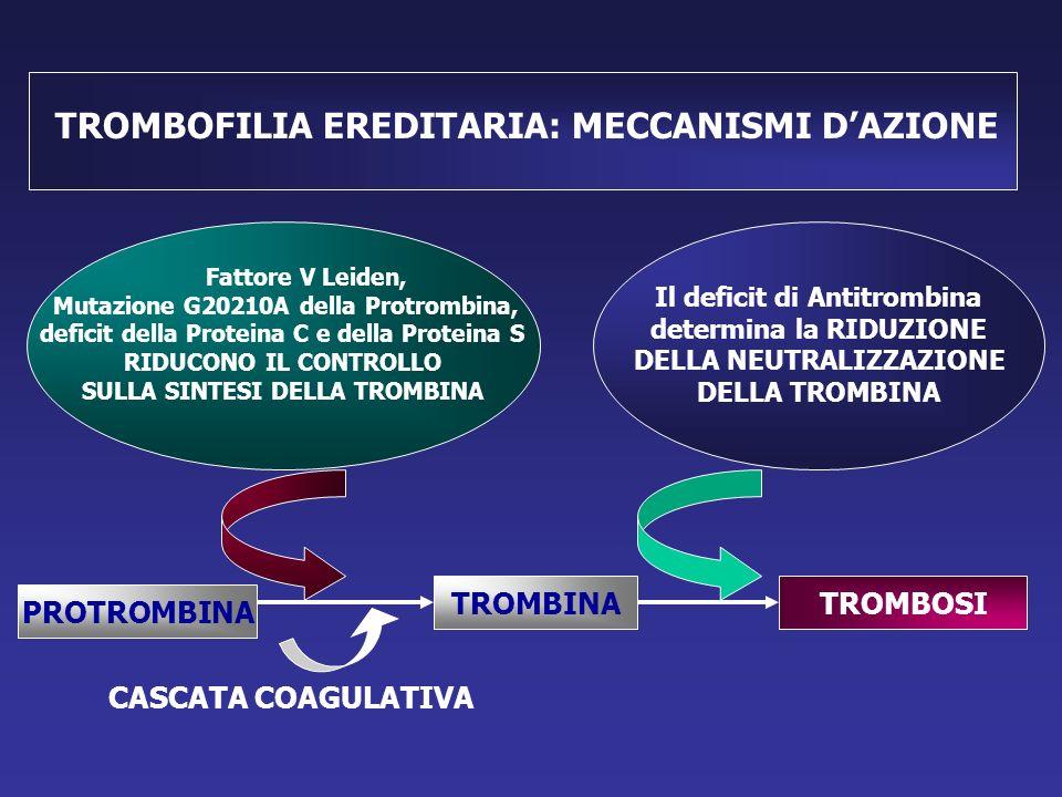 TROMBOFILIA EREDITARIA: MECCANISMI D'AZIONE