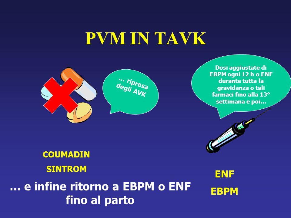 … e infine ritorno a EBPM o ENF fino al parto