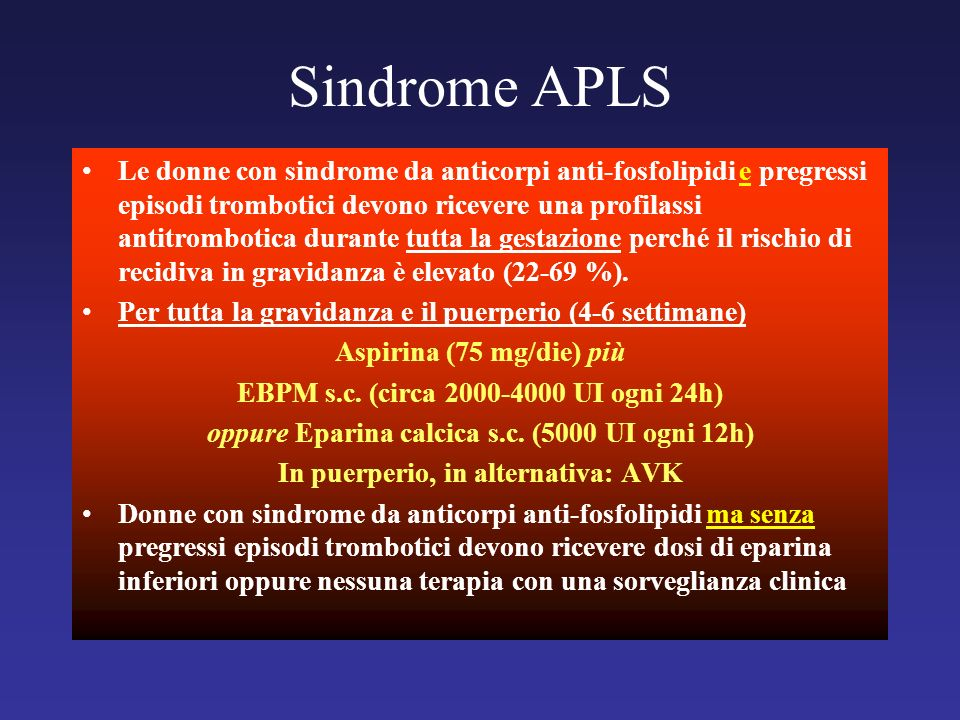 Sindrome APLS