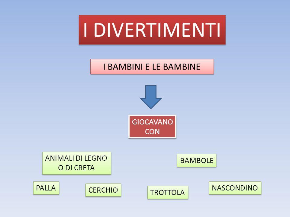 I DIVERTIMENTI I BAMBINI E LE BAMBINE GIOCAVANO CON ANIMALI DI LEGNO