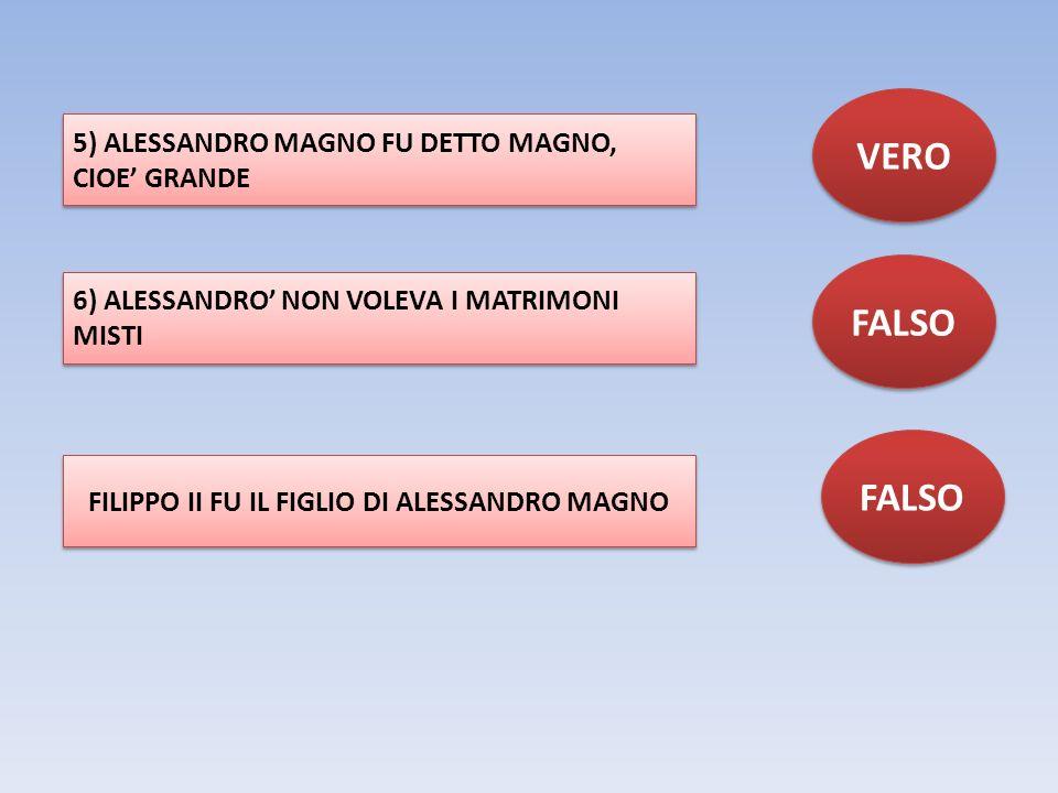 FILIPPO II FU IL FIGLIO DI ALESSANDRO MAGNO