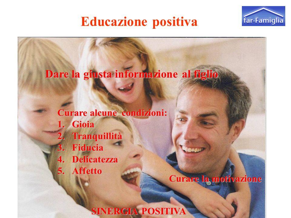 Educazione positiva Dare la giusta informazione al figlio far Famiglia