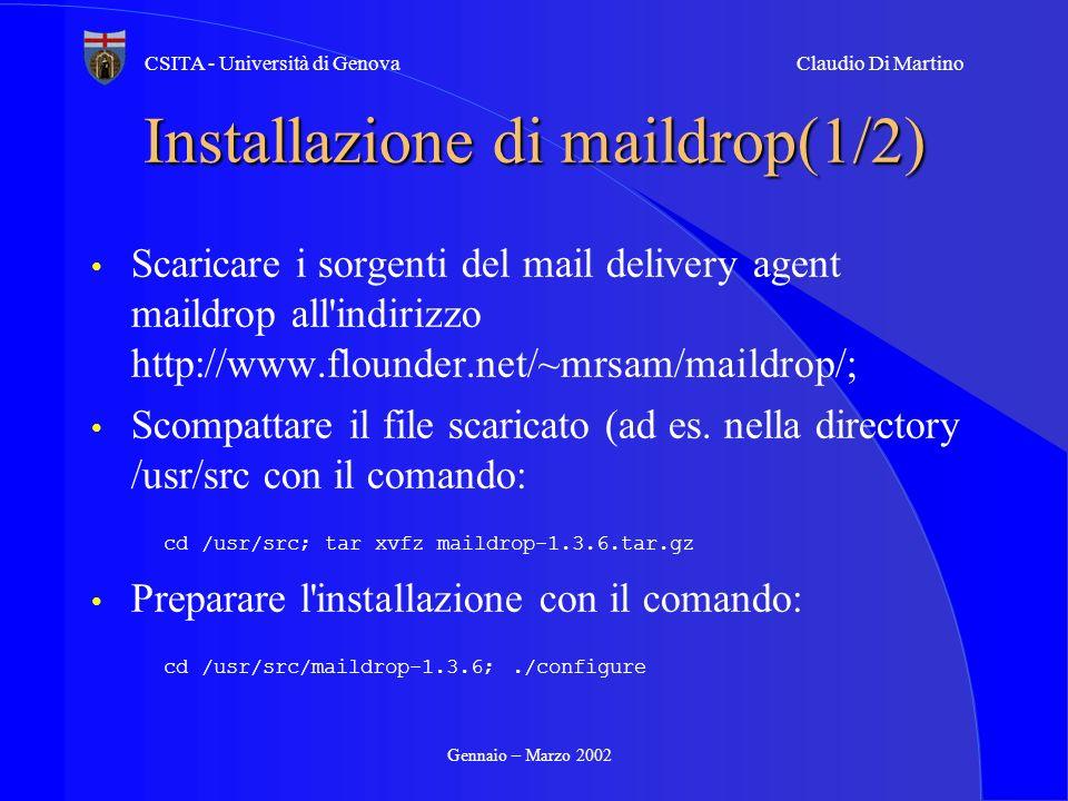 Installazione di maildrop(1/2)