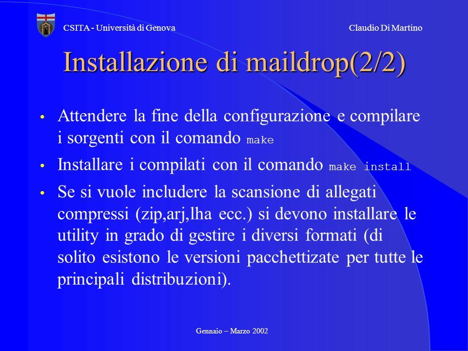 Installazione di maildrop(2/2)