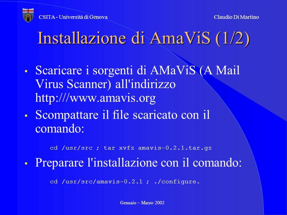 Installazione di AmaViS (1/2)