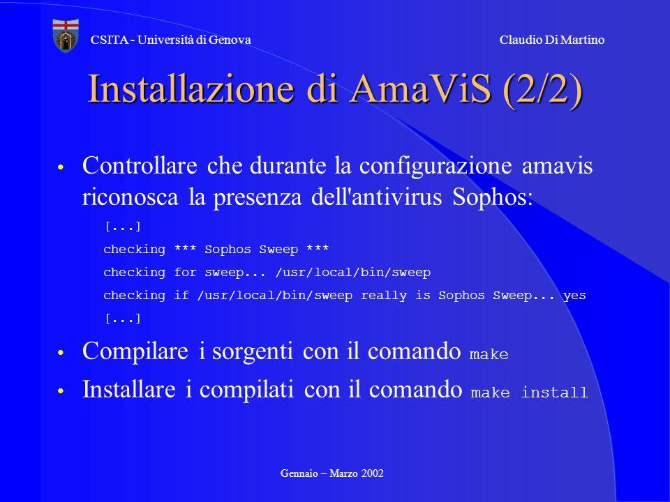 Installazione di AmaViS (2/2)