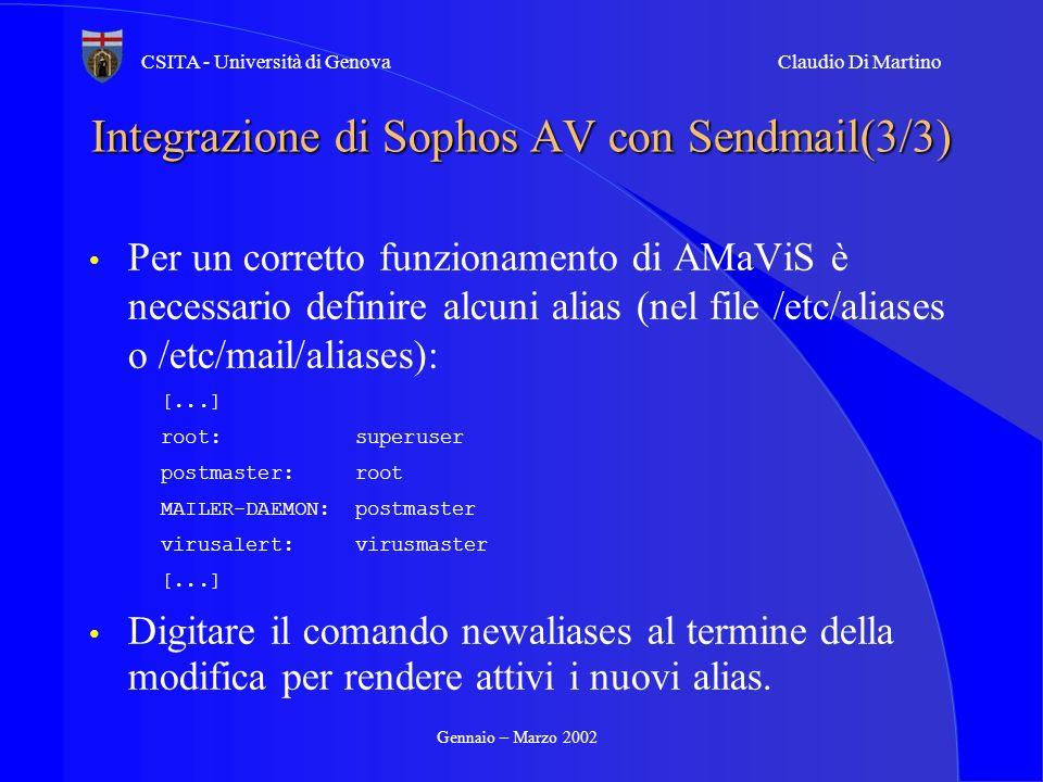 Integrazione di Sophos AV con Sendmail(3/3)
