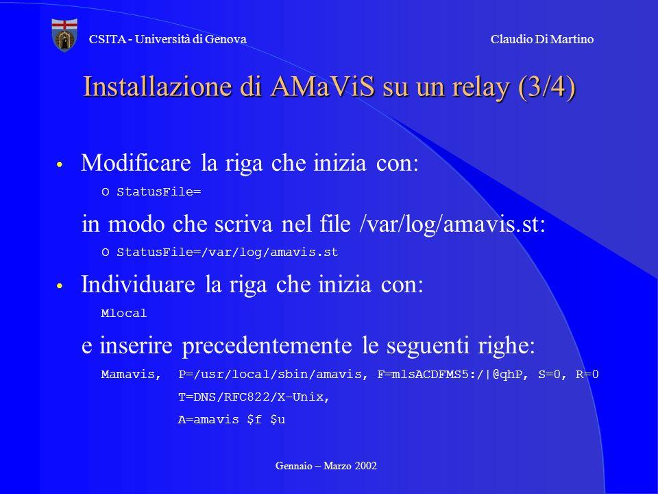 Installazione di AMaViS su un relay (3/4)