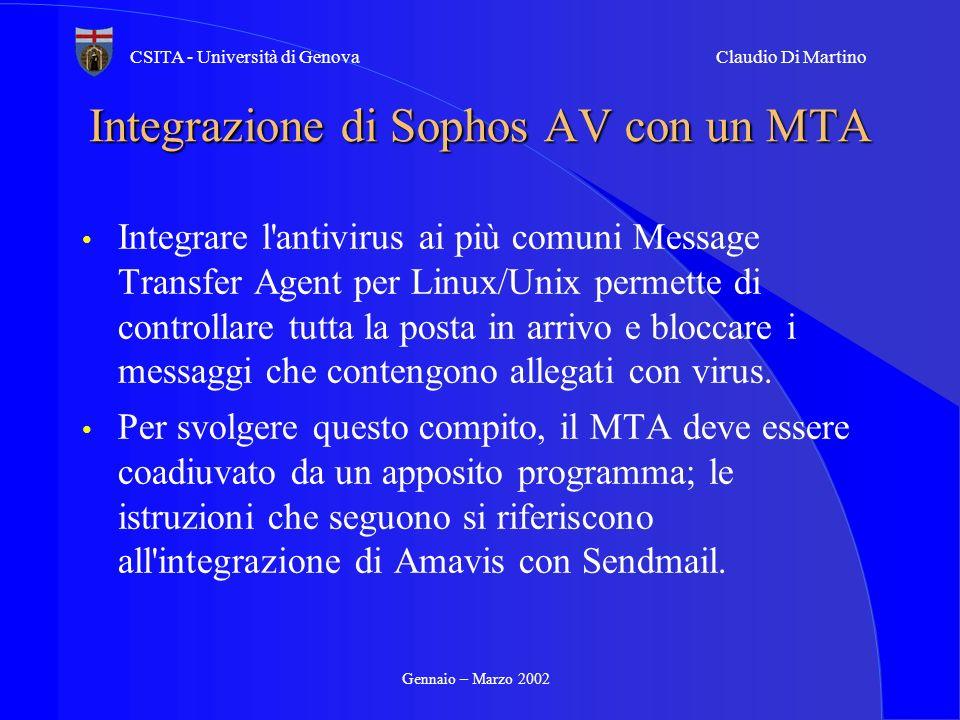 Integrazione di Sophos AV con un MTA