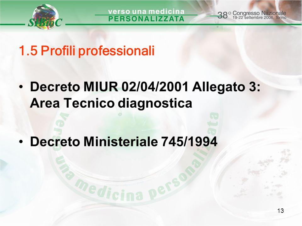 1.5 Profili professionali