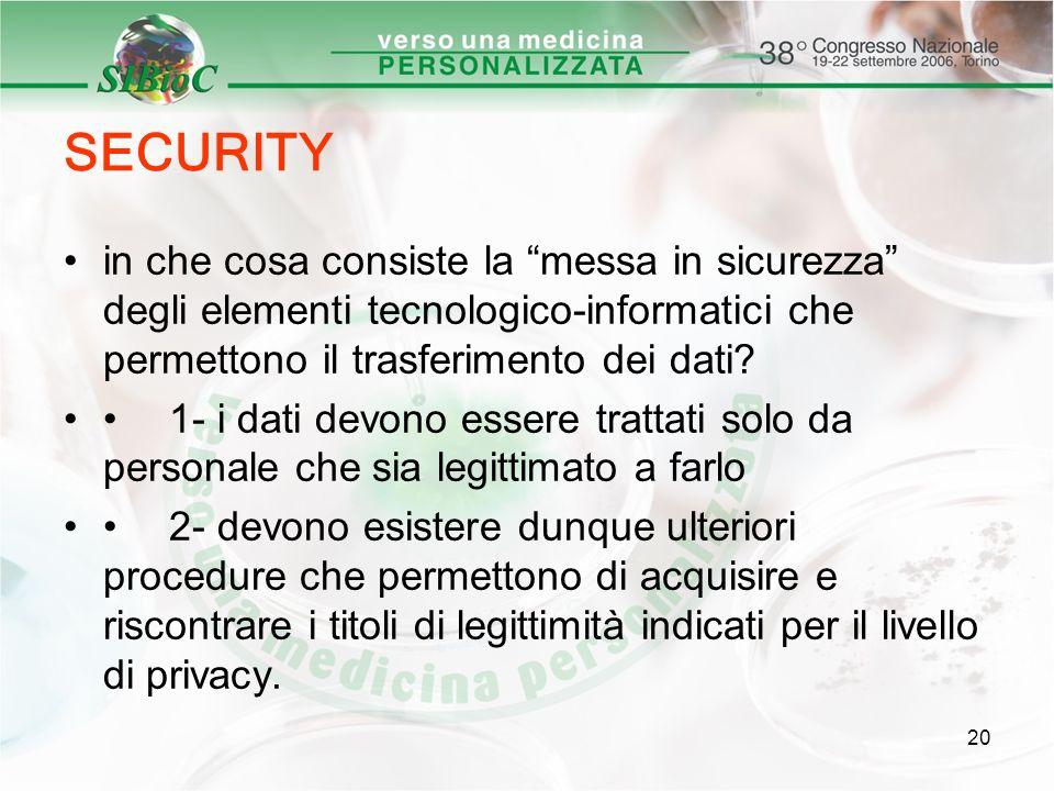 SECURITY in che cosa consiste la messa in sicurezza degli elementi tecnologico-informatici che permettono il trasferimento dei dati