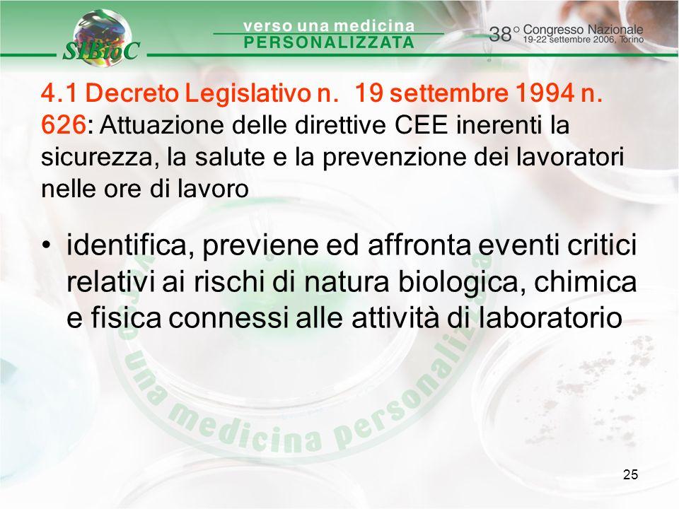 4. 1 Decreto Legislativo n. 19 settembre 1994 n