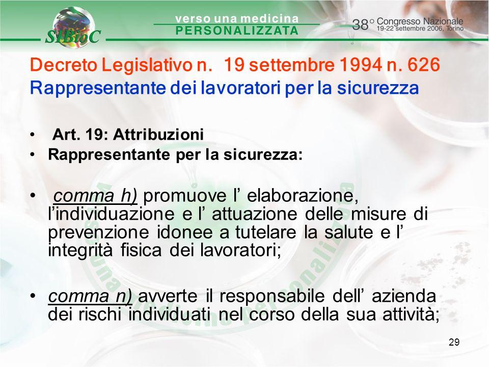 Decreto Legislativo n. 19 settembre 1994 n